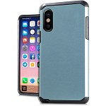 (E01) IPHONE X/XS DUO HYBRID - TEAL