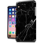 (E01) IPHONE X/XS DUO HYBRID IMAGE - MARBLE BLACK