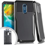 (E01) LG STYLO 4 STRYKER CASE - BLACK (RETAIL PACKED)