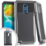 (E01) LG STYLO 4 STRYKER CASE - GRAY (RETAIL PACKED)