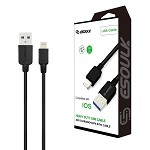 (E02) ESOULK EC38P 2A HEAVY DUTY USB CABLE 3M (10FT) - LIGHTNING (BLACK) (RETAIL PACKED)