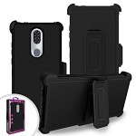 (F01) COOLPAD LEGACY PREMIUM TRIPLE COMBO HOLSTER - BLACK (RETAIL PACKED)
