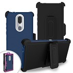 (F01) COOLPAD LEGACY PREMIUM TRIPLE COMBO HOLSTER - BLUE (RETAIL PACKED)