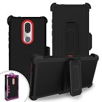(F01) COOLPAD LEGACY PREMIUM TRIPLE COMBO HOLSTER - RED (RETAIL PACKED)