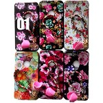 (2F) IPHONE 7 PLUS / 8 PLUS FLOWER DESIGN PAINTED TPU CASE W/ STRAP - #1 - RETAIL PACKAGING