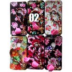 (2F) IPHONE 7 PLUS / 8 PLUS FLOWER DESIGN PAINTED TPU CASE W/ STRAP - #2 - RETAIL PACKAGING
