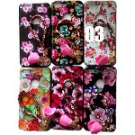 (2F) IPHONE 7 PLUS / 8 PLUS FLOWER DESIGN PAINTED TPU CASE W/ STRAP - #3 - RETAIL PACKAGING