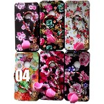 (2F) IPHONE 7 PLUS / 8 PLUS FLOWER DESIGN PAINTED TPU CASE W/ STRAP - #4 - RETAIL PACKAGING