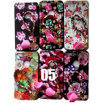 (2F) IPHONE 7 PLUS / 8 PLUS FLOWER DESIGN PAINTED TPU CASE W/ STRAP - #5 - RETAIL PACKAGING