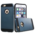 (2F) IPHONE 7 PLUS / 8 PLUS HYBRID TEXTURE BRUSHED METAL CASE - BLUE