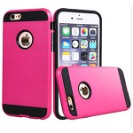 (2F) IPHONE 7 PLUS / 8 PLUS HYBRID TEXTURE BRUSHED METAL CASE - HOT PINK
