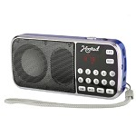 (MA) PORTABLE MULTI FUNCTION MP3 FM/AM H1-AM SPEAKER - BLUE