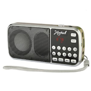 (MA) PORTABLE MULTI FUNCTION MP3 FM/AM H1-AM SPEAKER - GOLD