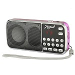(MA) PORTABLE MULTI FUNCTION MP3 FM/AM H1-AM SPEAKER - PINK