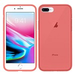 (1H) IPHONE 7 PLUS / 8 PLUS PREMIUM SHOCKPROOF CLEAR TPU 1.8MM THICK - RED