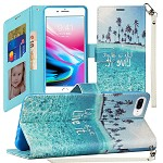 (1H) IPHONE 8 PLUS / 7 PLUS FASHION WRISTLET WALLET WITH STRAP - LIVE LIFE (RETAIL PACKED)