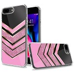 (1H) IPHONE 8 PLUS / 7 PLUS TRENDY ELECTROPLATED DESIGN ON ULTRA THICK HYBRID - CHEVRON (RETAIL PACKED)