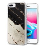 (1H) IPHONE 7 PLUS / 8 PLUS ELECTROPLATED IMD CHROME - MARBLE (RETAIL PACKED)