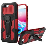 (1H) IPHONE 7 PLUS / 8 PLUS TRAVEL METAL CLIP KICKSTAND - RED