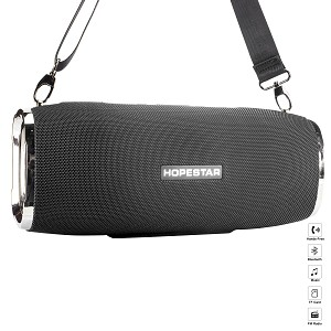 (01-KH) BLUETOOTH SPEAKER TUBE WITH STRAP - BLACK