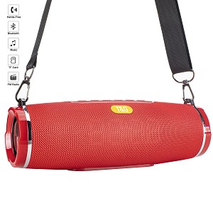 (01-KH) BLUETOOTH SPEAKER PORTABLE WITH ALARM CLOCK - RED