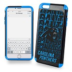 (D01) LICENSED TEAM IPHONE 6 PLUS / 6S PLUS DUAL HYBRID 2-PIECE - CAROLINA PANTHERS