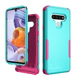 (01-NEW) LG STYLO 6 COMMANDER CASE - MINT/HOT PINK