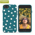 (01-OEM) IPHONE 8 / 7 PUREGEAR MOTIF SERIES CASE - GREEN/WHITE FLORAL (RETAIL PACKED)