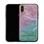 (1-CO) IPHONE X/XS CHROME MARBLE CASE - PINK + MINT (RETAIL PACKED)