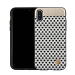 (1-CO) IPHONE X/XS NORAH STAR CASE WITH METAL BACK FOR MAGNETIC HOLDER - WHITE + BLACK (RETAIL PACKED)