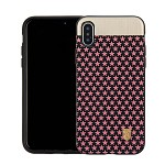 (1-CO) IPHONE X/XS NORAH STAR CASE WITH METAL BACK FOR MAGNETIC HOLDER - BLACK + PINK (RETAIL PACKED)