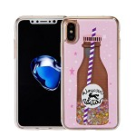 (1-CO) IPHONE X/XS ART MILKYWAY CASE - BOTTLE PINK (RETAIL PACKED)