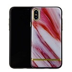 (1-CO) IPHONE X/XS CHROME MARBLE CASE - PINK + BROWN (RETAIL PACKED)