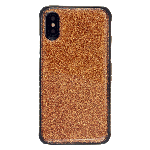 (1-CO) IPHONE X/XS SPARKLE TOUGH CASE - DARK BROWN (RETAIL PACKED)