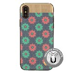 (1-CO) IPHONE X/XS NORAH FLOWER CASE WITH METAL BACK FOR MAGNETIC HOLDER - LIGHT BLUE (RETAIL PACKED)