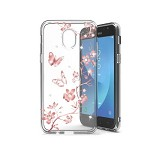 (P01) SAMSUNG GALAXY J7 (2018) DUAL SKETCH CASE - BUTTERFLY FLOWER (RETAIL PACKED)