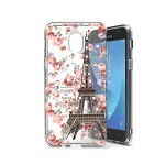 (P01) SAMSUNG GALAXY J7 (2018) DUAL SKETCH CASE - EIFFEL ROSES (RETAIL PACKED)