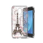 (P01) SAMSUNG GALAXY J7 (2018) DUAL SKETCH CASE - EIFFEL STAMPS (RETAIL PACKED)