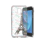 (P01) SAMSUNG GALAXY J7 (2018) DUAL SKETCH CASE - EIFFEL WORDS (RETAIL PACKED)
