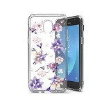 (P01) SAMSUNG GALAXY J7 (2018) DUAL SKETCH CASE - FLOWER PURPLE (RETAIL PACKED)