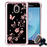 (P01) SAMSUNG GALAXY J7 (2018) NEO SKETCH - BUTTERFLY FLOWER / BLACK(RETAIL PACKED)