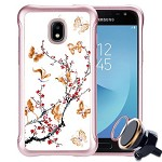(P01) SAMSUNG GALAXY J7 (2018) NEO SKETCH - BUTTERFLY PLUM  / WHITE(RETAIL PACKED)
