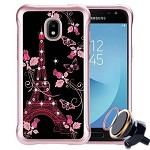 (P01) SAMSUNG GALAXY J7 (2018) NEO SKETCH - EIFFEL BUTTERFLY / BLACK (RETAIL PACKED)