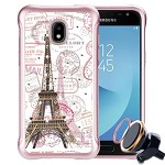 (P01) SAMSUNG GALAXY J7 (2018) NEO SKETCH - EIFFEL STAMPS  / WHITE (RETAIL PACKED)