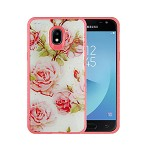 (P01) SAMSUNG GALAXY j7 (2018) TOUGH ART CASE - ROSES BABY PINK / PINK BUMPER (RETAIL PACKED)