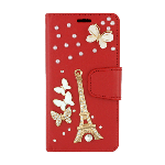 (P01) SAMSUNG GALAXY J7 (2018) TREASURE WALLET EIFFEL - RED (RETAIL PACKED)
