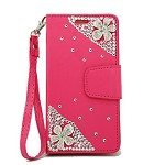 (P01) SAMSUNG GALAXY J7 (2018) TREASURE WALLET FLOWER - HOT PINK (RETAIL PACKED)
