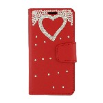 (P01) LG STYLO 4 / 4 PLUS TREASURE WALLET HEART - RED (RETAIL PACKED)