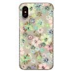 (1-CO) IPHONE X/XS TOUGH ART CASE - FLOWER PASTEL / GRAY BUMPER (RETAIL PACKED)