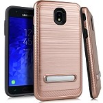 (E01) SAMSUNG GALAXY J7 (2018) BRUSHED METAL STAND - ROSE GOLD